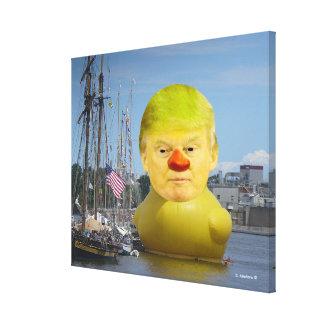 Eingewickelte Leinwand Donald Trump gelbe