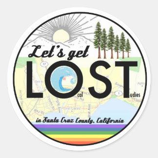 Einheimisch-Studien in Santa Cruz County, CA Runder Aufkleber