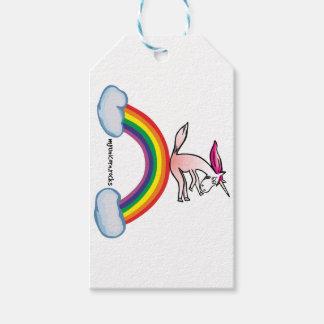 Einhorn auf Regenbogen - Crazy unicorn on rainbow Geschenkanhänger