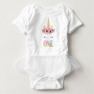 Einhorn-Baby-Ballettröckchen-Bodysuit, 1. Baby Strampler