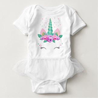 Einhorn-Baby-Ballettröckchen-Bodysuit Baby Strampler