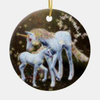 Einhorn-Magie Keramik Ornament