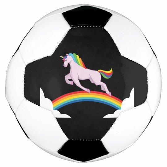 Einhorn Mit Regenbogen Fussball