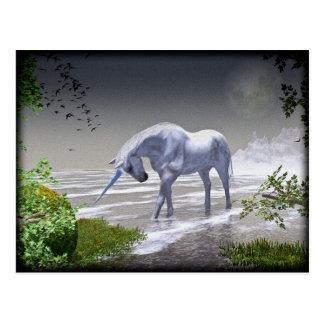 Einhorn-Mond Postkarte