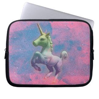 Einhorn-Neopren-Laptop-Hülse (Kuchen-Rosa) Laptopschutzhülle