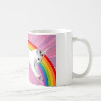 Einhorn-Regenbogen-Katze Tasse