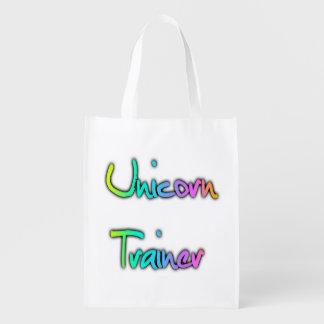 Einhorn-Trainer-Regenbogen Wiederverwendbare Einkaufstasche