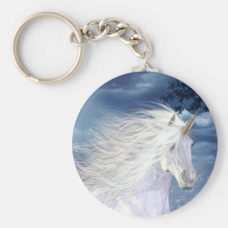 Einhorn-Weiß-Schönheit Standard Runder Schlüsselanhänger