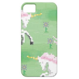 einhörner in den Feldern von pixel iPhone 5 Etui