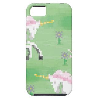 einhörner in den Feldern von pixel iPhone 5 Hülle