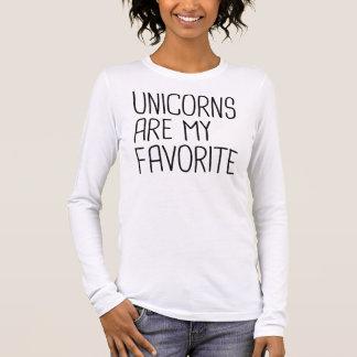 Einhörner sind mein Liebling Langärmeliges T-Shirt