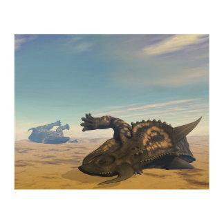 Einiosaurusdinosaurier tot holzdruck