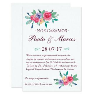 Einladung der Blumen Hochzeit