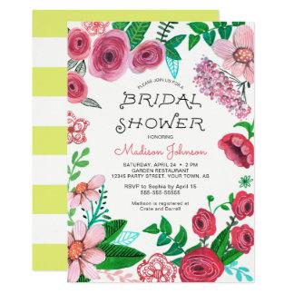 Einladung der Frühlings-Blumen-| des Brautparty-|
