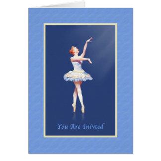 Einladung, Tanz-Erwägungsgrund, Ballerina auf Karte