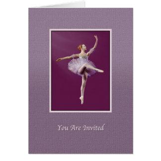 Einladung, Tanz-Erwägungsgrund, Ballerina, Karte