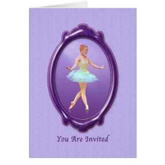 Einladung, Tanz-Erwägungsgrund, Ballerina Karte
