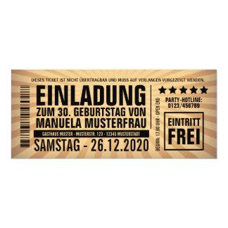 Einladungen 30. Geburtstag U2013 Eintrittskarte