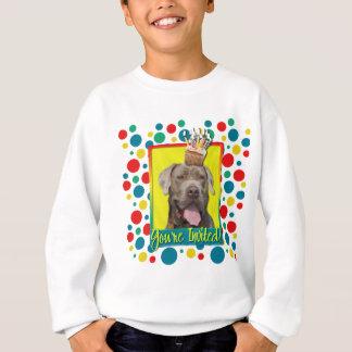 Einladungs-kleiner Kuchen - Mastiff - Schnüffler Sweatshirt