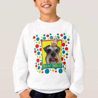 Einladungs-kleiner Kuchen - Schnauzer Sweatshirt