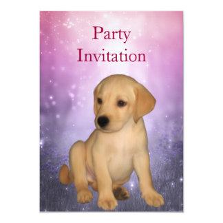 Einladungs-Labrador-Welpe am Park 12,7 X 17,8 Cm Einladungskarte