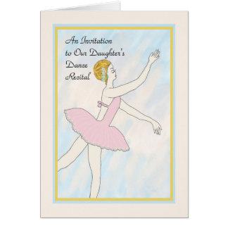 Einladungskarte zur Tanz-dem Erwägungsgrund der Karte