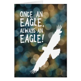 einmal ein Adler immer ein Adler Karte