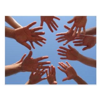 Einreichen- Teamwork Postkarte