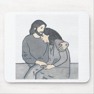 Einsame Frau trifft Gott Mauspad
