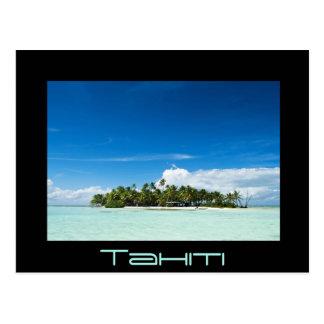 Einsame Insel in der pazifischen schwarzen Postkarte