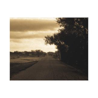Einsame Straße Leinwanddruck
