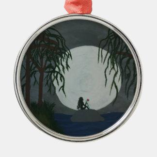 Einsamkeits-Kunst-Druck Silbernes Ornament