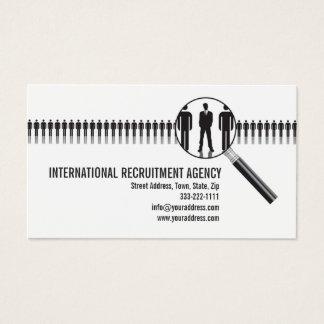 Einstellungs-Agentur-Beratungs-Visitenkarte Visitenkarte
