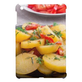 Eintopfgericht der Kartoffeln mit Zwiebel, grüner iPad Mini Hülle