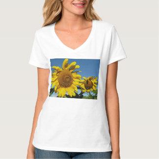 Einzelteile, die nette Sonnenblumen kennzeichnen T-shirt