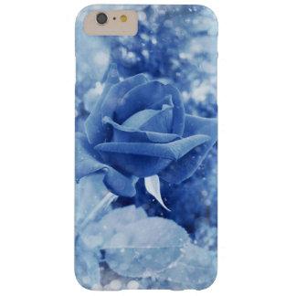 Einzigartige blaue Rose im Schnee Barely There iPhone 6 Plus Hülle