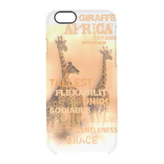 Einzigartige Giraffen Durchsichtige iPhone 6/6S Hülle