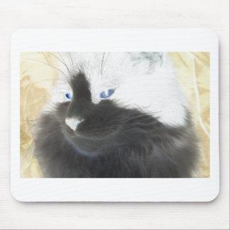 Einzigartige Schwarzweiss-Katze Mousepad