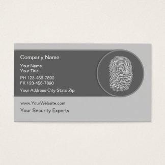 Einzigartige Sicherheits-Visitenkarten Visitenkarte