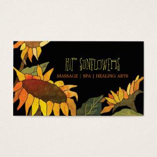 Einzigartige Sonnenblume-Termin-Karten Visitenkarten