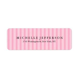 Einzigartige stilvolle moderne elegante rosa rücksendeetikett