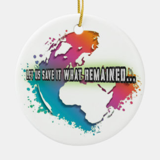 Einzigartige Tag der Erde-Kreis-Verzierung Rundes Keramik Ornament