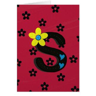 """Einzigartiger Buchstabe """"S"""" Notecard Karte"""