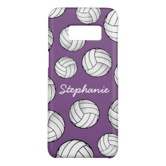 Einzigartiger Name-Volleyball lila Case-Mate Samsung Galaxy S8 Hülle