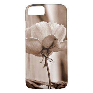 Einzigartiger Sepia-BlumenFoto iPhone 8/7 Hülle