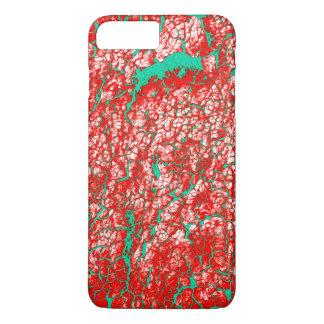 Einzigartiges cooles rosarotes grünes abstraktes iPhone 7 plus hülle