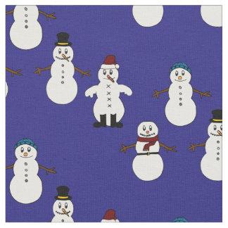 Einzigartiges Gewebe blaues niedliches Snowman Stoff