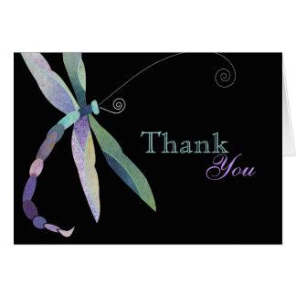 Einzigartiges Libellen-Geschäft danken Ihnen Mitteilungskarte
