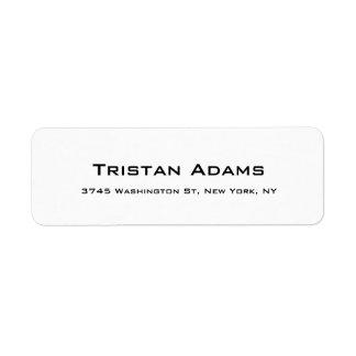 Einzigartiges modernes elegantes einfaches kleiner adressaufkleber
