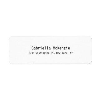 Einzigartiges spezielles modernes elegantes kleiner adressaufkleber
